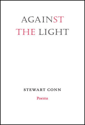 The cover is pure white. At the stop the title is in a style of caps with outlines, and the letters ST and AND are in red, the rest in black. No image. At the bottom the name of the author in small black caps, and underneath that, in lower case red (small) is the word Poems.