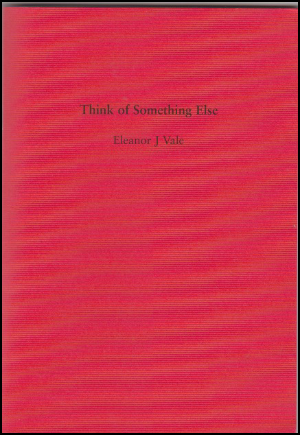 A bright red colour, almost scarlet, with the title and author's name as simple as can be in the top third, and quite small.