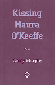 The jacket is a warm purply red. All text is centred. The title is in huge lower case letters, one word per line. It occupies most of half the cover, and the colour is a pale version of the underlying purple. Below this 'Poems' in very small italics. Beneath this the author's name in a more elegant seriffed font, in white. At the bottom the publisher's logo, which is a white circle sitting in a tiny V shape.
