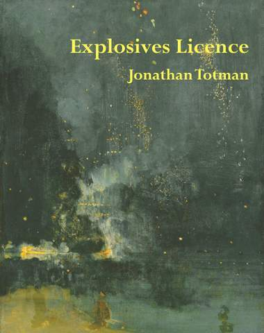 The cover is a full colour, though murky, painting (at least I think it must be a painting) of what could be bonfire night. Smoke, some bright lightss etc. Justified right and bright yellow lowercase font is the title and (slightly smaller) author's name, in the top quarter of the cover. No other text or logo is displayed.