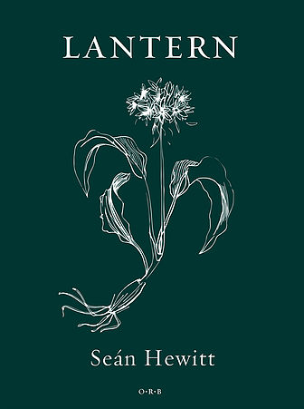 The cover is black, with type and graphic centred in white. The main title is white caps just town from the top. Below it a botanical illustration of a plant, with the flowerhead perhaps gone to seed, then rather elegant curving leafs, a small tuber and some roots. The author's name below this in lower case, and below this a tiny imprint logo of some sort.