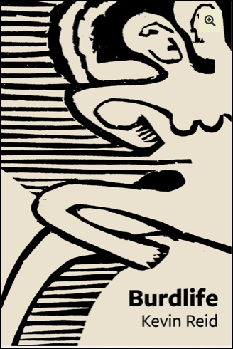 The pamphlet is very small (A6) and printed on pale yellowy card. The cover has a bold black painting, Picasso style, of two people (I think) of which the one at the front is female. It's abstract with black lines behind and legs or arms curving here and there. The title of the pamphlet is right justified in the bottom corner in bold black lower case. The author's name, smaller, is below that in a regular lowercase font.