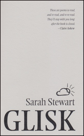 The cover is plain and light grey. A puff quote in italics is featured, right-justified in the top right hand corner. Everything else is at the bottom, and also right justified. The book title is in huge black caps filling the whole width of the jacket and at the very bottom. Above this the name of the author, black lower case, a little above. Above her name is a black graphic of a cloud with a sun half hidden behind it, the rays drawn in little black lines. The text at the top and the text at the bottom effectively make visual triangles because of their size and jistification, widest at the edge of the jacket and narrowing towards the middle. Simple but visually effective.