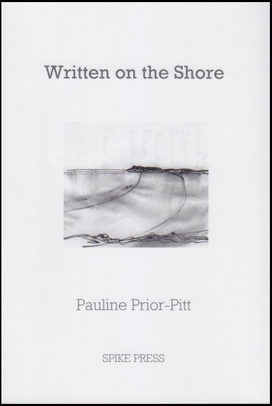 Jacket is white with all lettering grey. The title, very dark grey, is in fairly large lower case, a rounded font, centred, about two inches from the top. Below this a little rectangular hand drawing of sea and shore (inside the flap it say this illustration is done in pen, ink and sea-water). Author's name centred below this in same rounded font, a little smaller than before and pale grey. Name of press at the bottom in grey small caps.