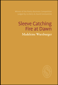 The jacket contains no images and is orange. All text is right justified in the top third. The title of the pamphlet, which breaks after 'Catching', is dark orange lower case font, with key words capitalised. Below this the name of the author, is in a lower case font but much smaller and white. There is faint blurb above both, faint white, about the pamphlet winning the PBS competition in 2018.