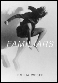 The cover shows black and white photo of a young woman in mid leap, her knees drawn right up. Behind her there is a shadow (special effect) version of herself. The title is centred in large white italic sans serif caps The author's name is grey at the foot of the jacked, centred in small sans serif caps.