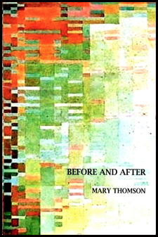 The jacket holds a multicoloured abstract design in a series of tiny rectangles. The colour is broadly orange/red to the left, moving through green/yellow in the middle, towards white on the right hand side and right hand corner. The title is in small black caps on the white area, right justified and in the bottom quarter of the jacket. The author's name, in even smaller black caps, is similarly placed just below this.