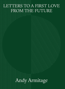 The jacket is very dark green, with a huge circle just visible behind the green, half wholly green, half diagonally striped. This may be the publisher's half moon. The title is centred in white small caps at the very top over two lines. The author's name is at the foot of the jacket in white largish lower case. The title is placed just above, and just below, the 'moon'.