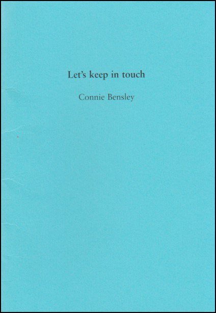 The cover is a bright sky blue. The title is centred in the top third in small, fairly insignficant black lower case. The name of the author is centred, in the same font but even smaller, half an inch or so below. There is no other decoration or ornament on the jacket.