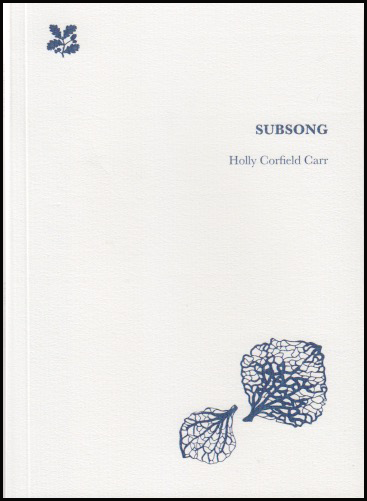 The cover is pure white. Top right is a tiny National Trust symbol (black). The book title is very small caps, justified right about a third of the way down, with the author's name, black lower-case, even smaller below it. In the bottom right corner there are to leaves -- perhaps skeleton leaves - a delicate black line drawing.