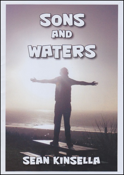 The cover is completely filled with a silhouette type photograph of a man standing, arms outstretched, before a landscape view of land and water, perhaps lakes. The title of the pamphlet is centred in very large and almost comic style caps, in white. The author's name is centred at the bottom in the same font but much smaller.