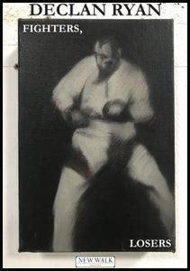Most of the jacket is taken up with a darkish monocrhome photograph of a boxer, braced in typical defence position. He is standing against a black background whiich allows the words FIGHTERS and LOSERS in the top left corner and bottom right corner of the photograph to stand out in white caps. The author's name is on the white border that surrounds the photograph in large black letters. The publisher's logo can faintly be seen in the bottom white border.